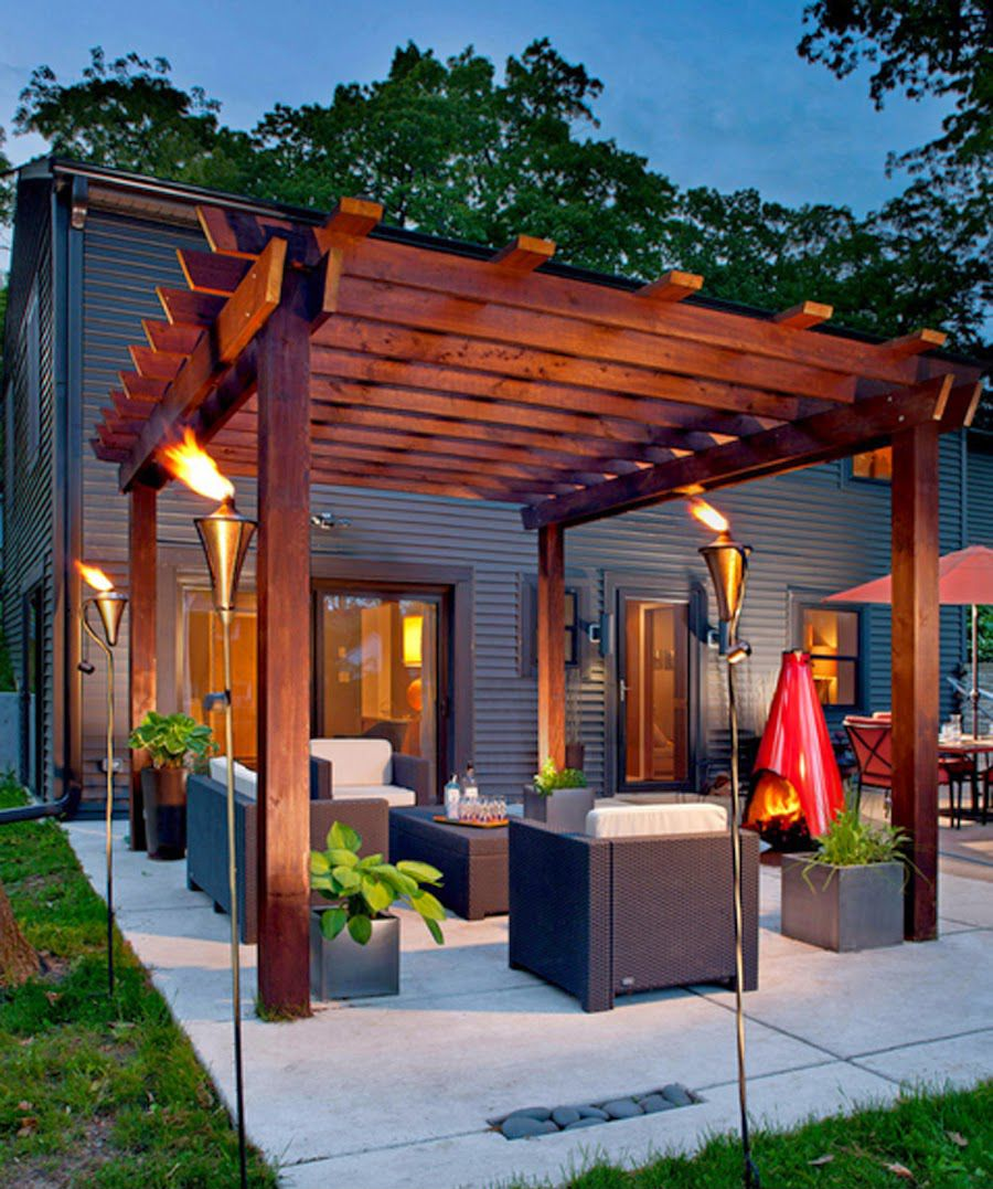 Pergola Extension Ideas: Turn Up The Heat With A Glowing Pergola