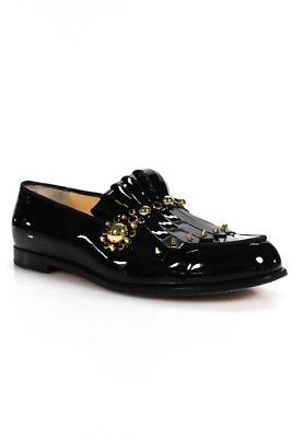 Loafers for Women On Sale, Black, Patent Leather, 2017, 7.5 Emporio Armani