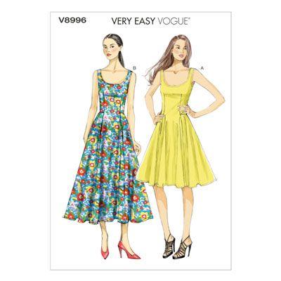 Kleid, Vogue 8996 | 34 - 42 | Nähideen