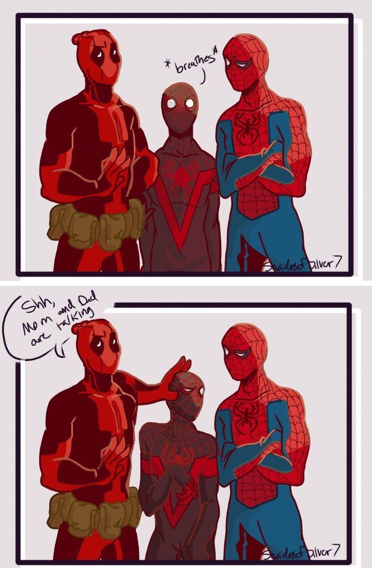 Pin By Faith K On Spideypool Deadpool And Spiderman Deadpool X Spiderman Marvel Superheroes