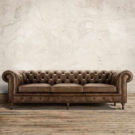 Handcrafted In America The Arhaus Wes 109 Tufted Leather Sofa Bronco Whiskey Brown