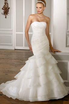 858339c2c Vestidos de novia corte sirena estilo diseño baratos venta ...