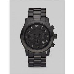 Michael Kors - Black-on-Black Stainless Steel Chronograph Watch