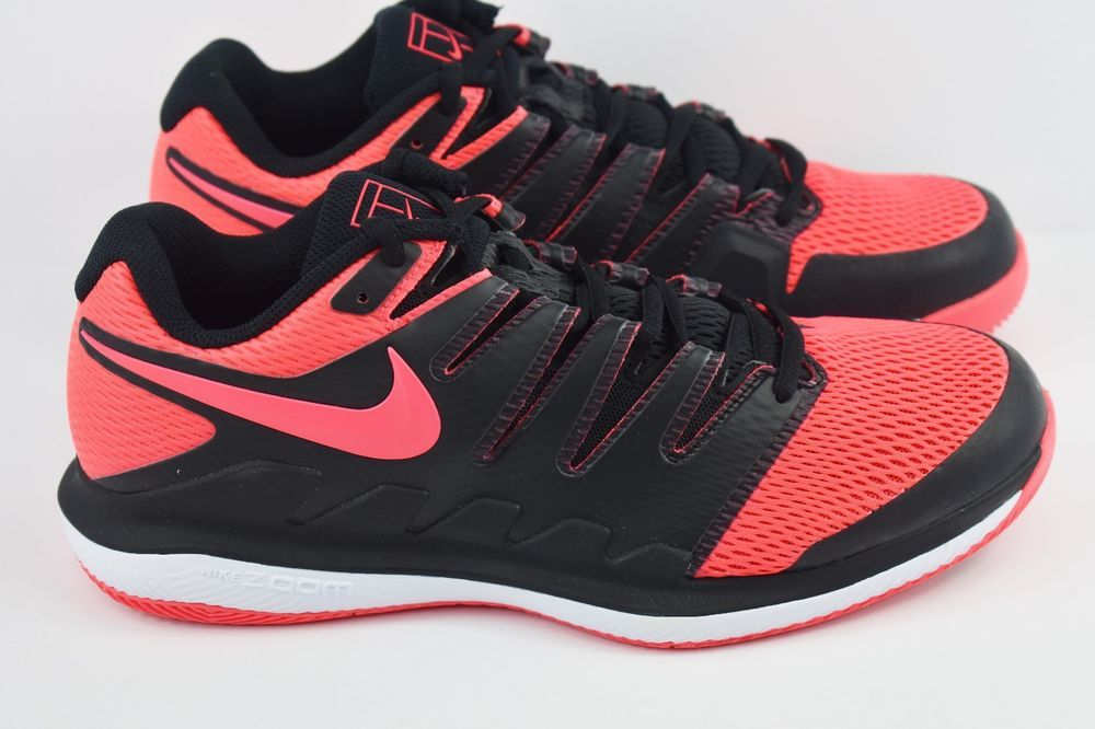 new concept 491dc 4c677 Nike Air Zoom Vapor X HC Mens Size 9 Tennis Shoes Black Solar Red AA8030 006