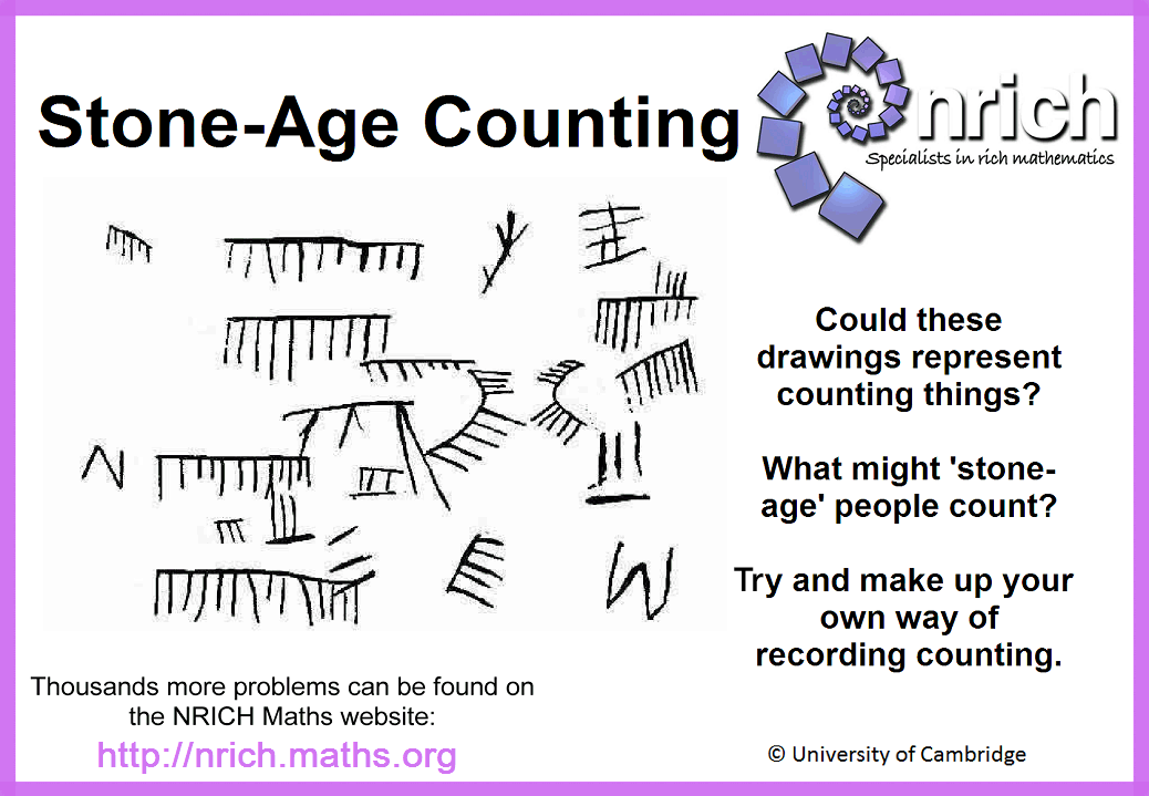 Stone Age Counting Poster Nrichths Art Of The Stone Age
