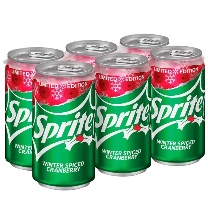 Sprite Winter Spice Cranberry 6pk 6 75 Fl Oz Mini Cans Target Sprite Cranberry Flavors