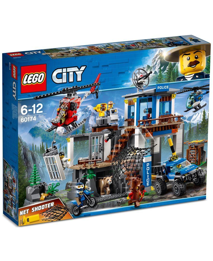 Lego City Mountain Police Headquarters Lego City Lego City Police Lego City Sets