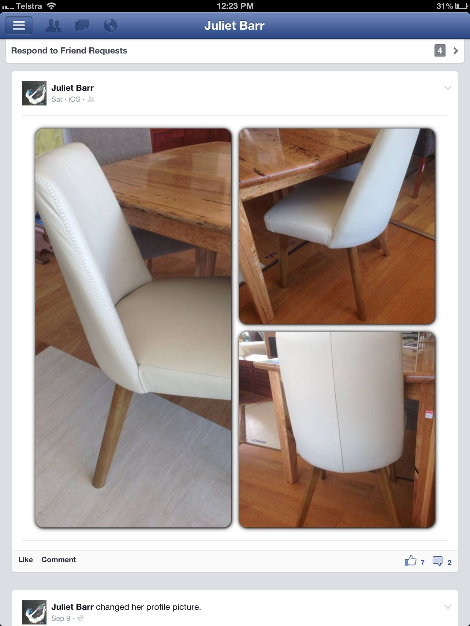 White Leather Dining Chair Low And Modern With Wide Seat Www