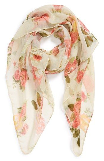 David & Young Floral Woven Scarf (Juniors) available at #Nordstrom