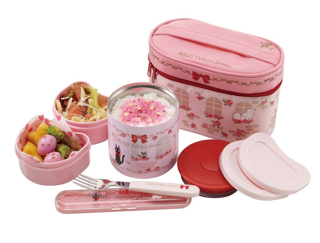 bento kiki delivery service thermal lunch box set food containers fork and bag. Black Bedroom Furniture Sets. Home Design Ideas
