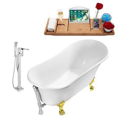 Streamline Bath 67 X 32 Clawfoot Soaking Bathtub Finish Chrome Feet Finish Gold Soaking Bathtubs Vintage Tub Bathtub