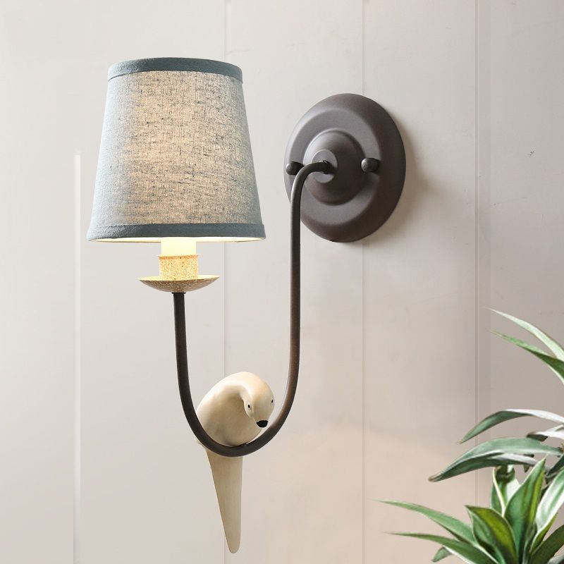A1 American Country Retro Wall Light Fresh French Antique Wall Living Room Bedroom Bedside Wall Lamps And Decora Wall Lights Retro Bedside Wall Lamp Lamp Decor