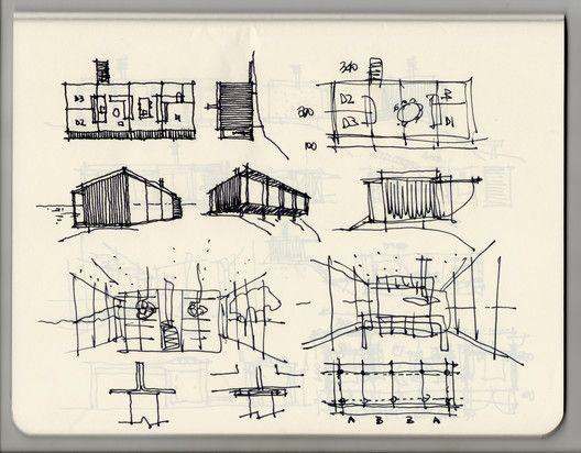 Casa Remota Croquis 2 Referencias Dibujo Croquis