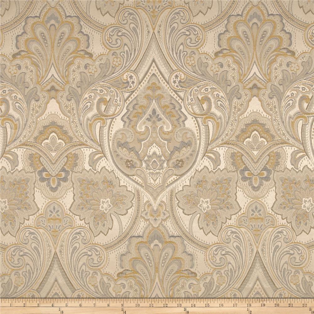 Eroica Hollyhock Damask Jacquard Delft Stout fabrics