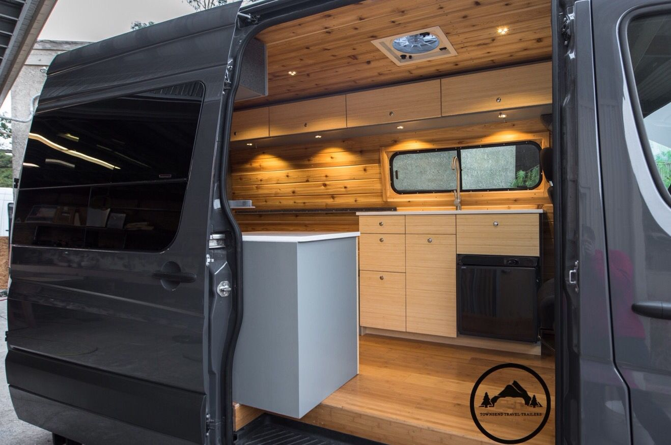 Newly Converted Sprinter Van By Townsend Travel Trailers Cedar Walls Bamboo Camper Van