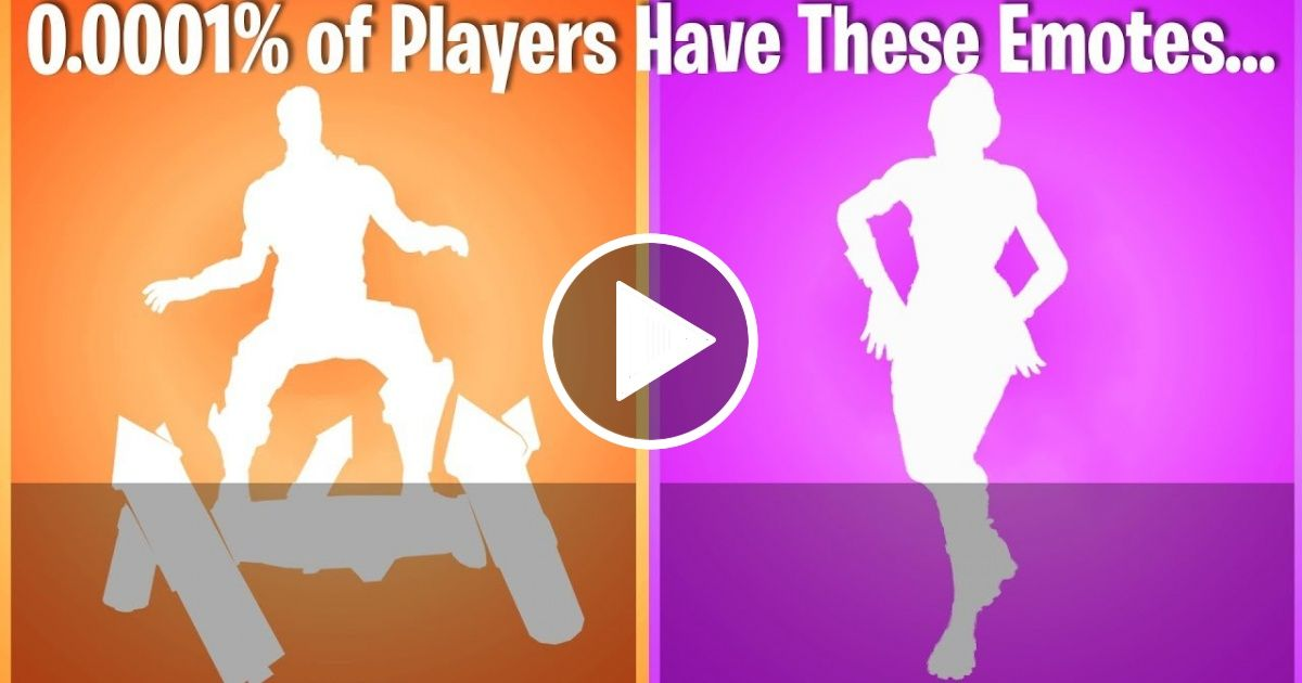 TOP 10 RAREST EMOTES IN FORTNITE (nobody in the world has #1