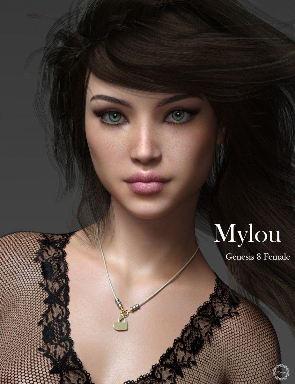 P3D Mylou for Genesis 8 Female | Daz Poser | Model, 3d