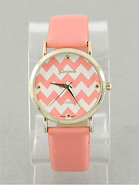 Peach Jocelyn Watch from P.S. I Love You More. Shop online at: psiloveyoumore.storenvy.com