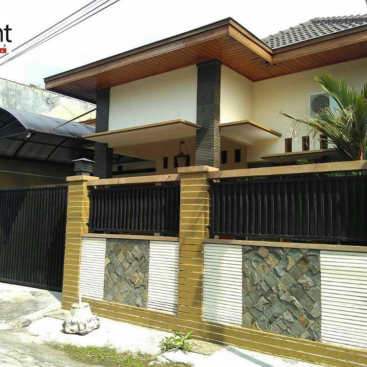 cat pagar rumah minimalis 08   Rumah minimalis, Rumah ...