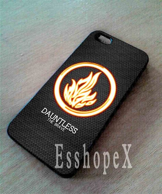 Divergent Dauntless The Brave For iphone 4/4s case, iphone 5/5s,iphone 5c, samsung s3 i9300 case, samsung s4 i9500 case in Essophex on Etsy, $13.00