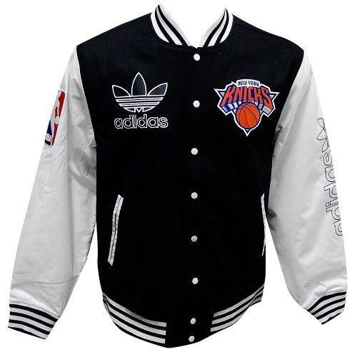65ee1594b831 New York Knicks Adidas Originals Wool Varsity Jacket -Black adidas.  149.97