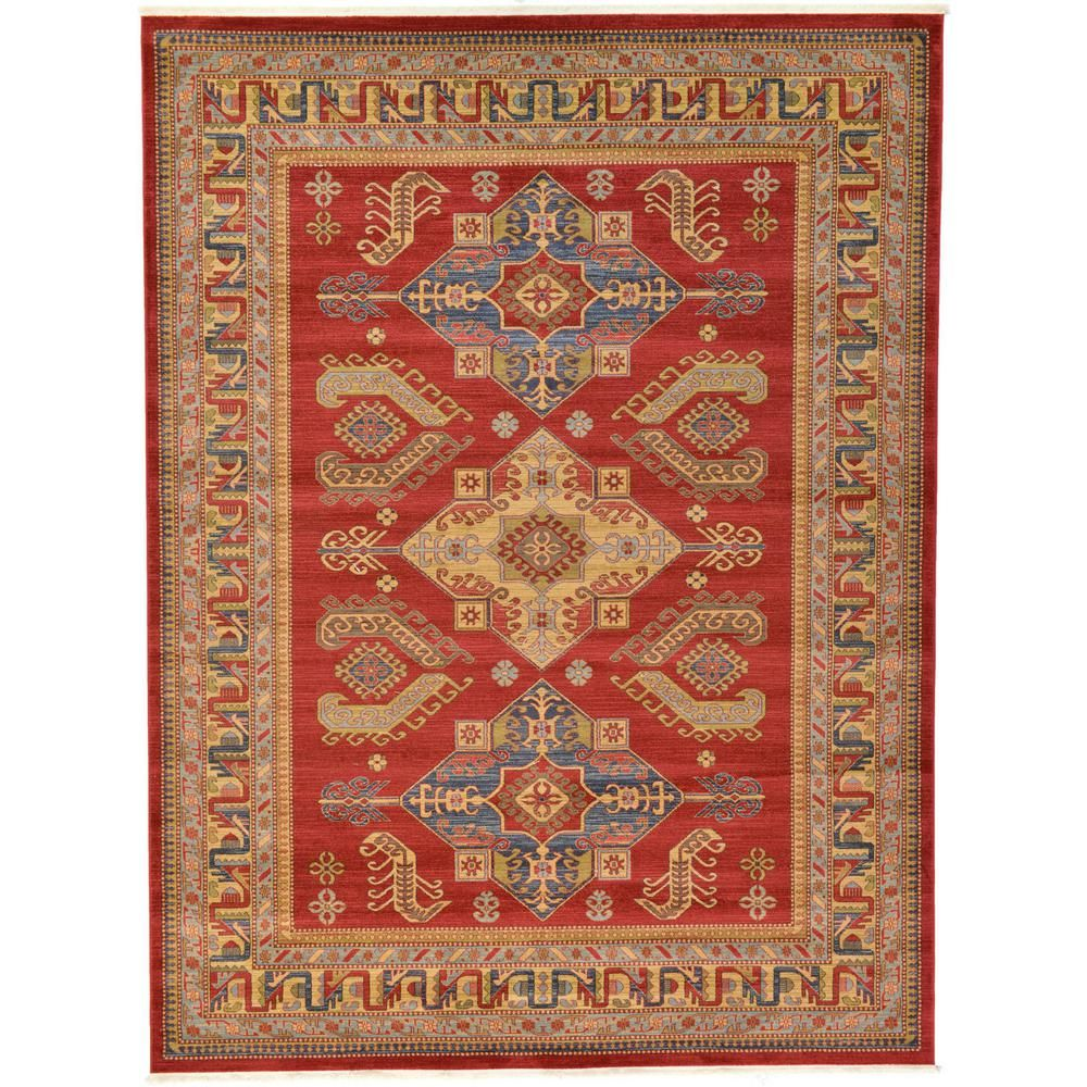 Unique Loom Sahand Philip Red 10 0 X 13 0 Area Rug 3117897 Area Rugs Rugs Light Blue Area Rug