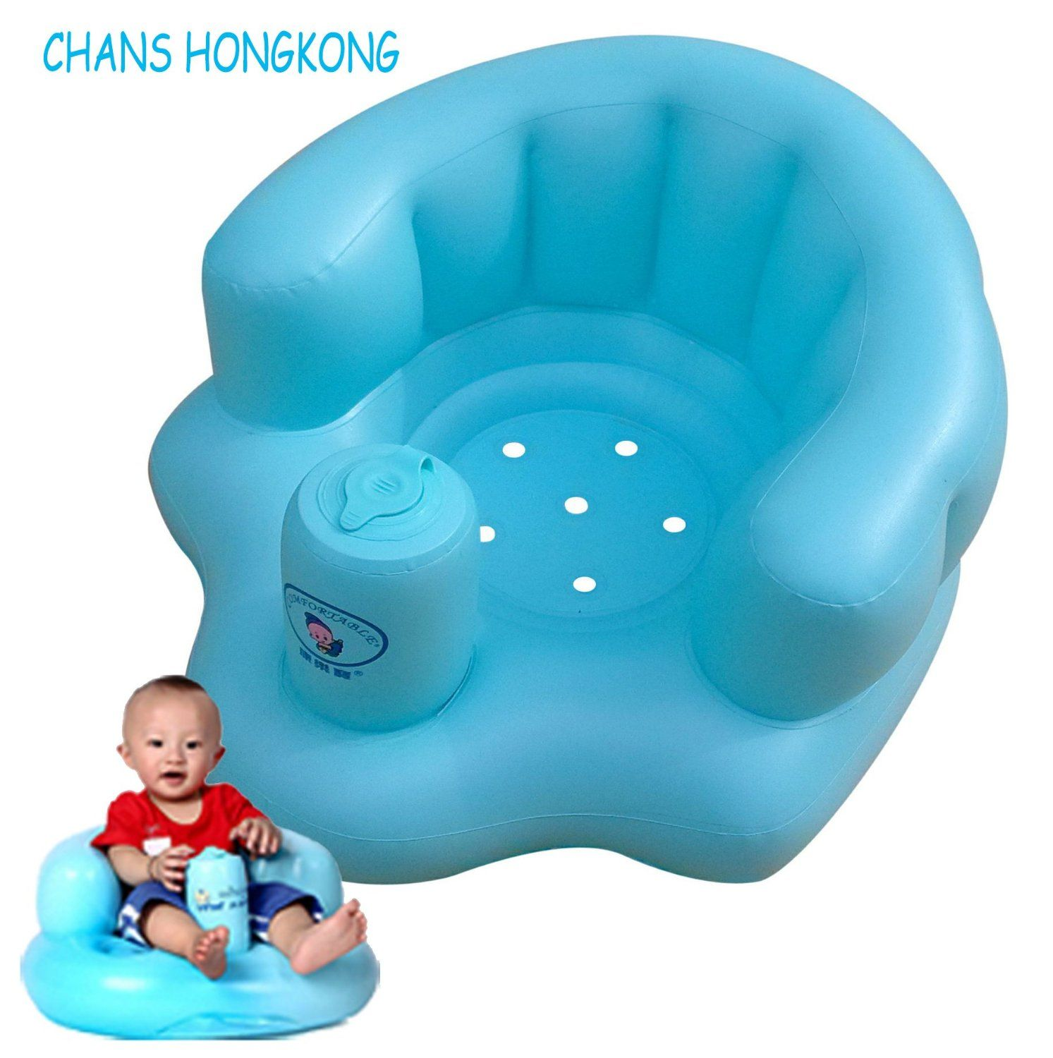 CHANS Baby Bath Seat,Inflatable Dining Chair Baby Sofa ,Baby Chair ...