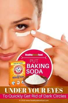 How To Get Rid of Under Eye Dark Circles With Baking Soda ...