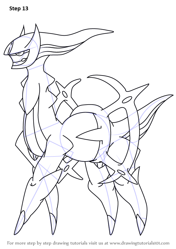 Step By Step How To Draw Arceus From Pokemon Drawingtutorials101 Com In 2021 Pokemon Drawings Pokemon Sketch Pokemon