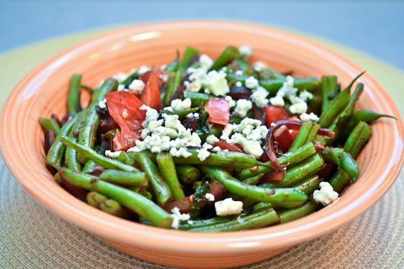 Green Beans with Gorgonzola and BasilVinaigrette