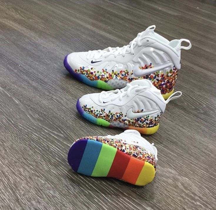 ce5ae0ecf0331 NIKE LITTLE CEREAL FRUITY PEBBLES FOAMPOSITE BABY TODDLER PRESCHOOL SIZE  1C-13C  Nike  Athletic