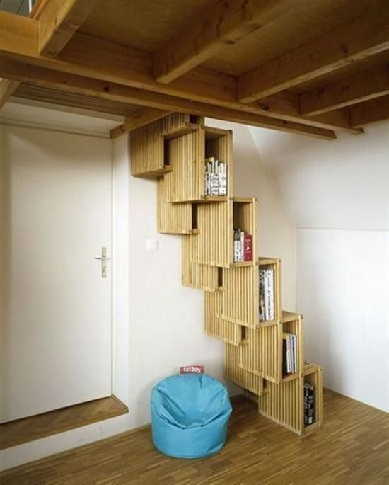 Storage Creative Small Spaces | ... Storage | Creative Minimalist  Contemporary Staircase Idea Picture