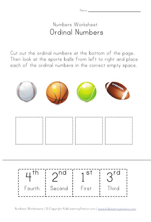 Kindergarten Ordinal Numbers Worksheet ordinal numbers – Ordinal Numbers Worksheet for Kindergarten