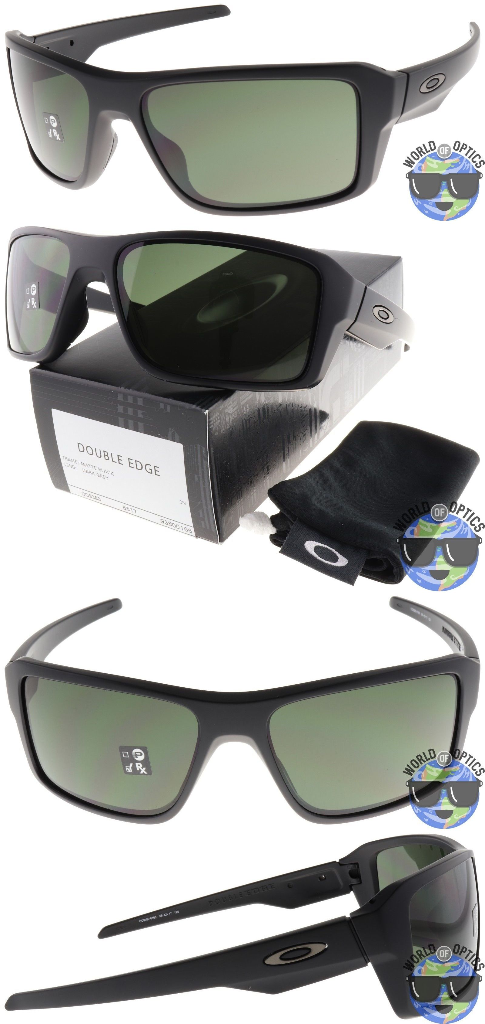 bbd9d26f43 Sunglasses 79720  Oakley Double Edge Sunglasses Oo9380-0166 Matte Black