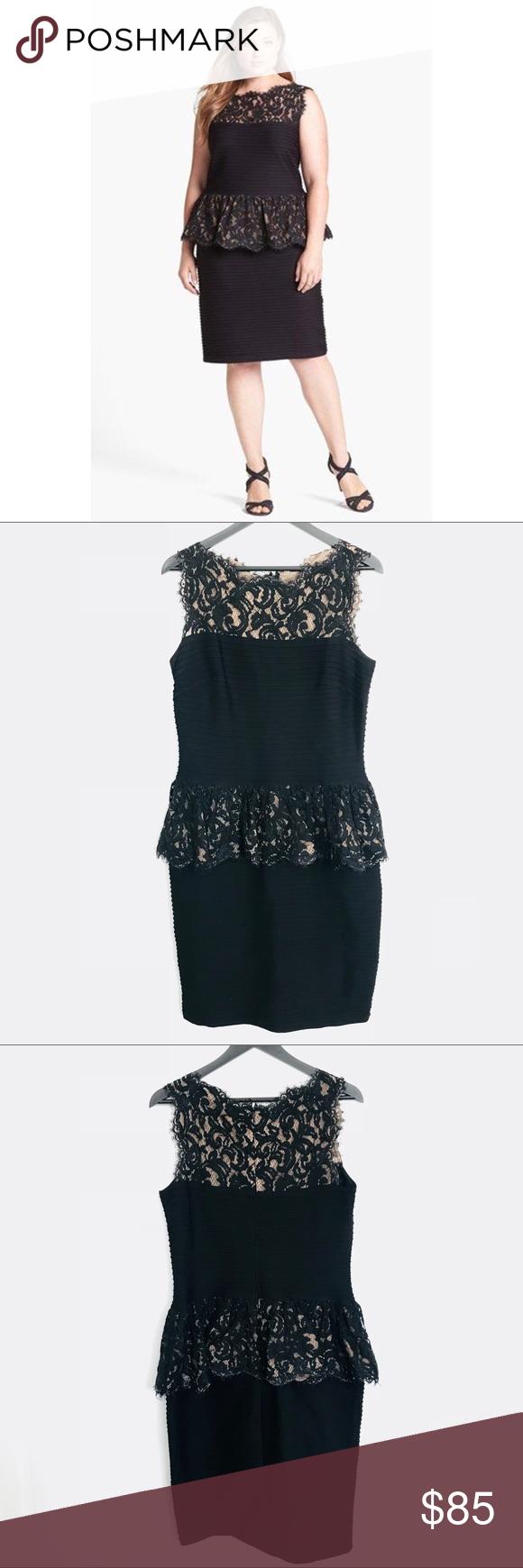 Tadashi Shoji Peplum Black Lace Midi Dress Black Lace Midi Dress Lace Midi Dress Tadashi Shoji [ 1740 x 580 Pixel ]
