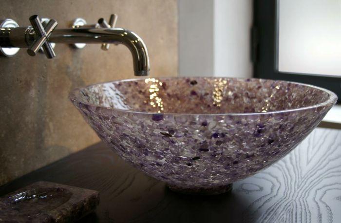 vasque résine et verre en couleur amethyste | Lavabo | Pinterest ...