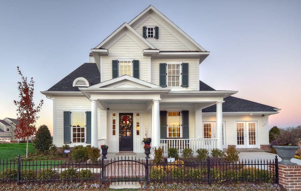 Casa americana fachada da casa pinterest minha casa for Fachada tradicional