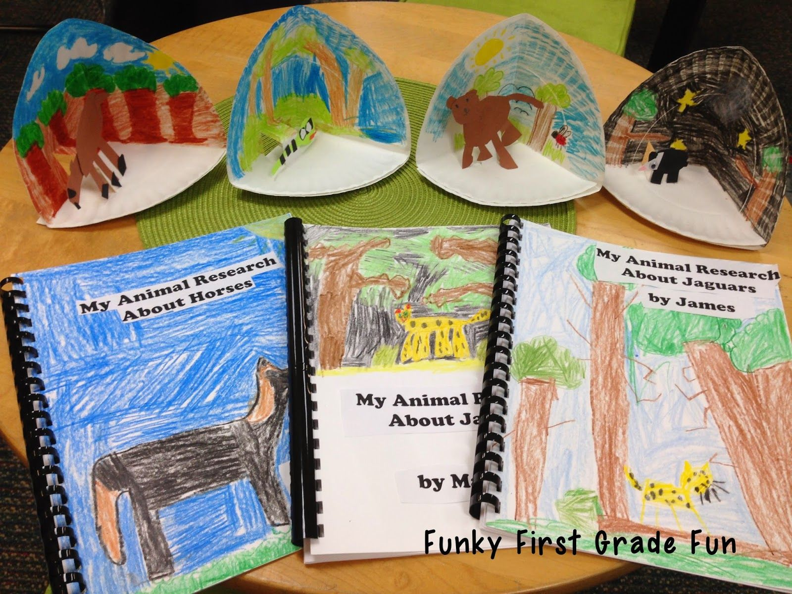 Love The Paper Plate Dioramas For Our Animal Research