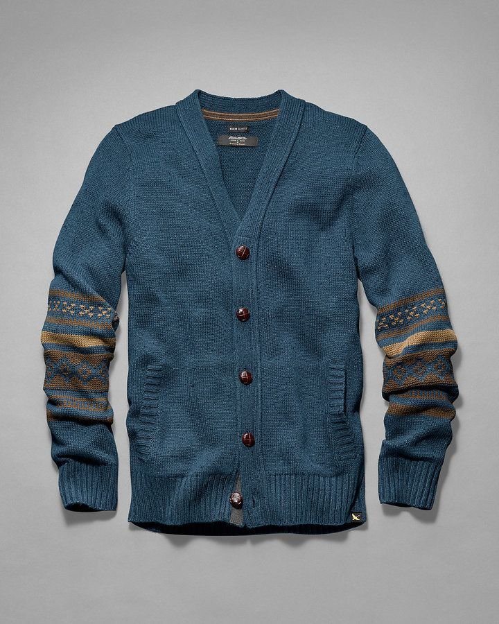 Men's Deer Valley Fair Isle Cardigan Sweater #sponsored | Rugged ...