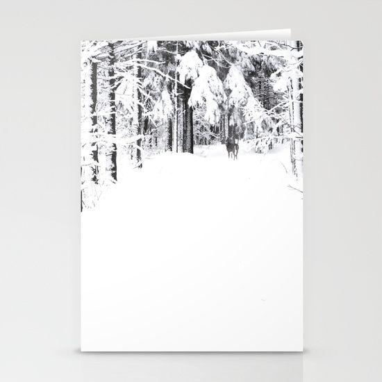 La neige Stationery Card // Christmas Noel
