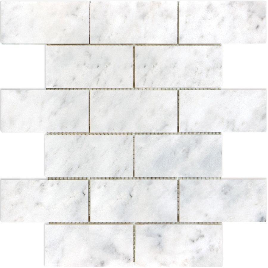 Kitchen Backsplash Allen Roth Venatino Polished Natural Stone Mosaic Subway Wall Tile Common X Actual