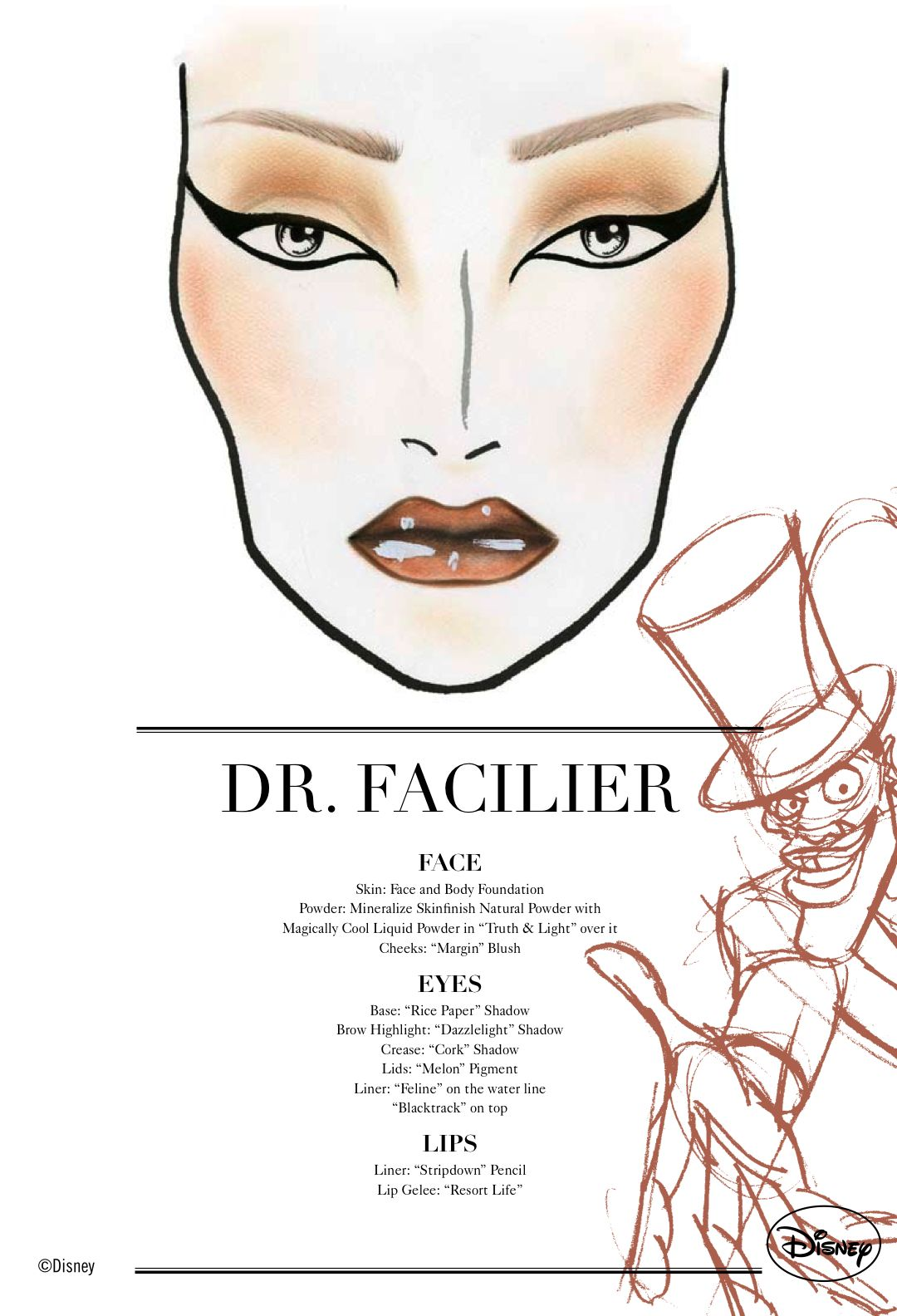Face Chart, Disney, Dr. Facilier