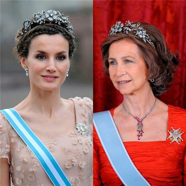 La reina Isabel II Corona Tiara Diadema Kate Middleton Meghan familia de Boda Real