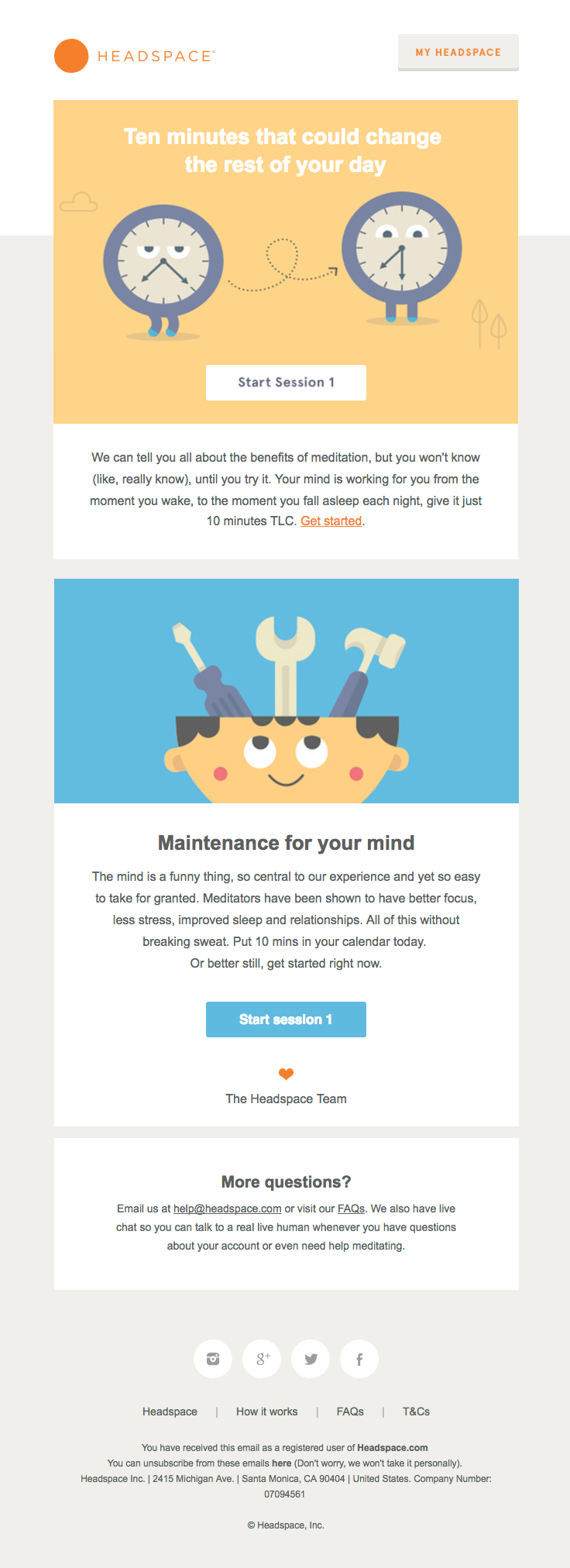 Headspace Sent This Email With The Subject Line Welcome To