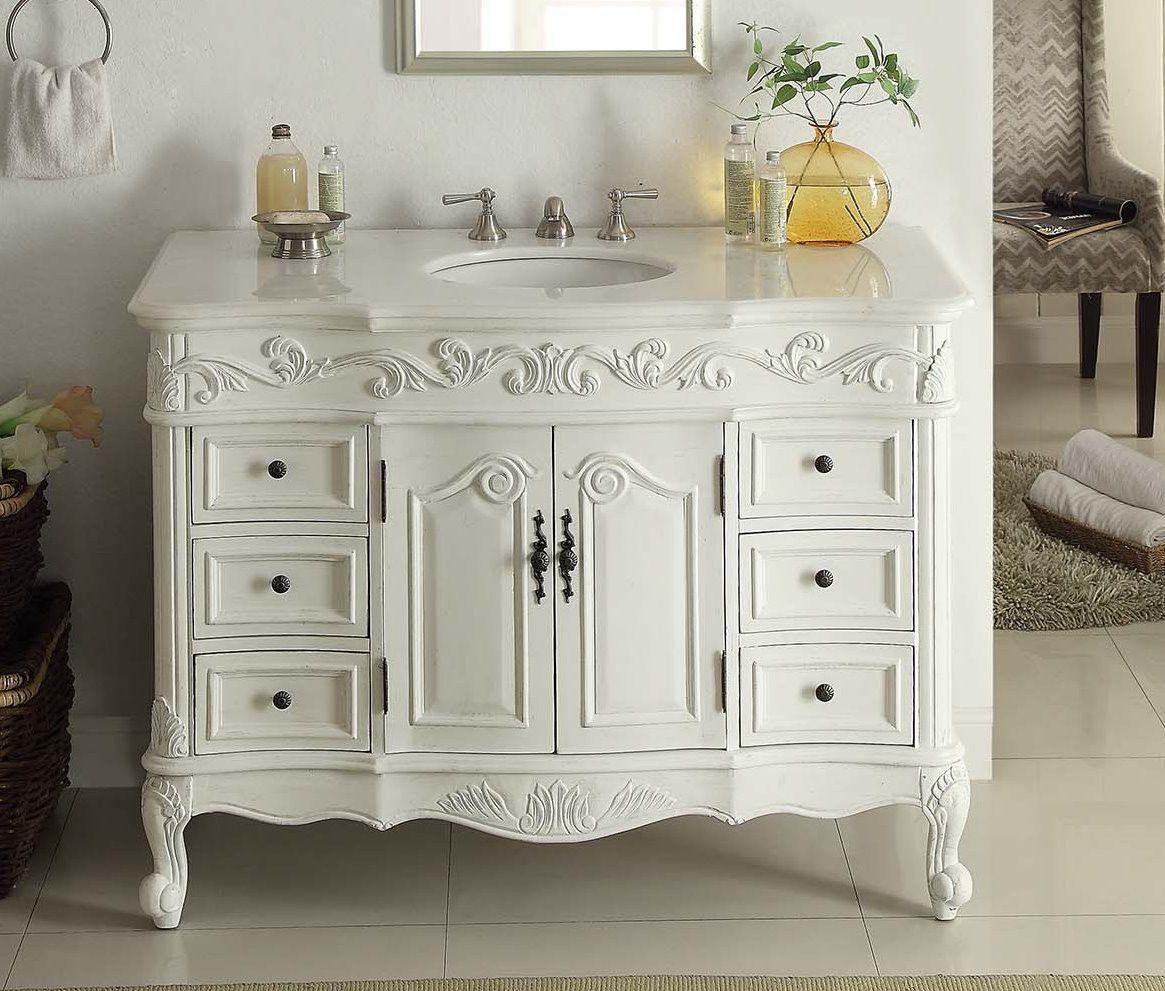 42 Antique White Beckham Bathroom Sink Vanity Sw 3882w Aw 42
