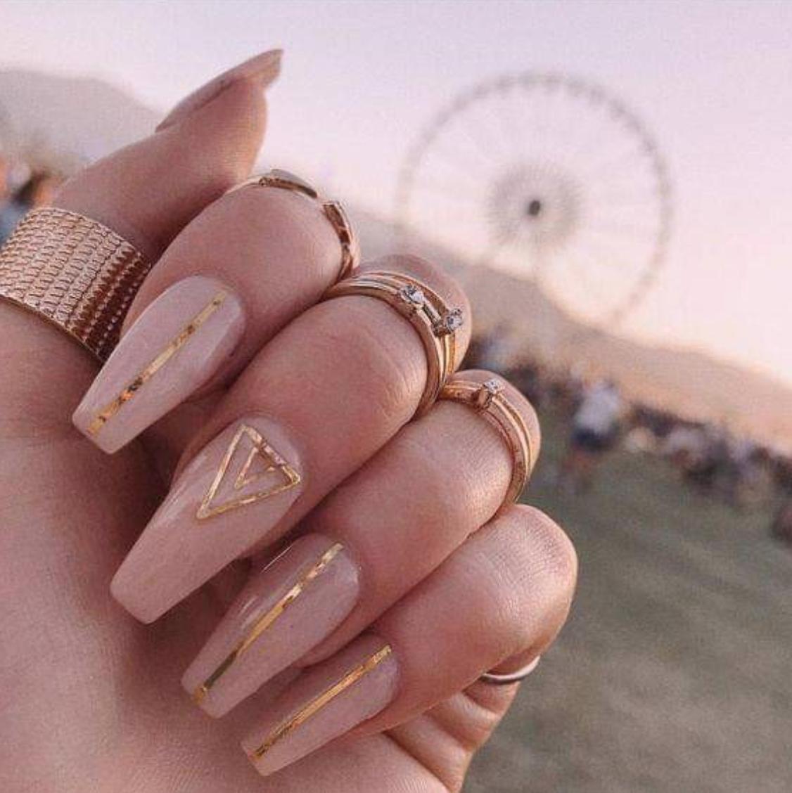 Awesome Ideas Nails Designs Chic Nails Blush Nails Boho Nails