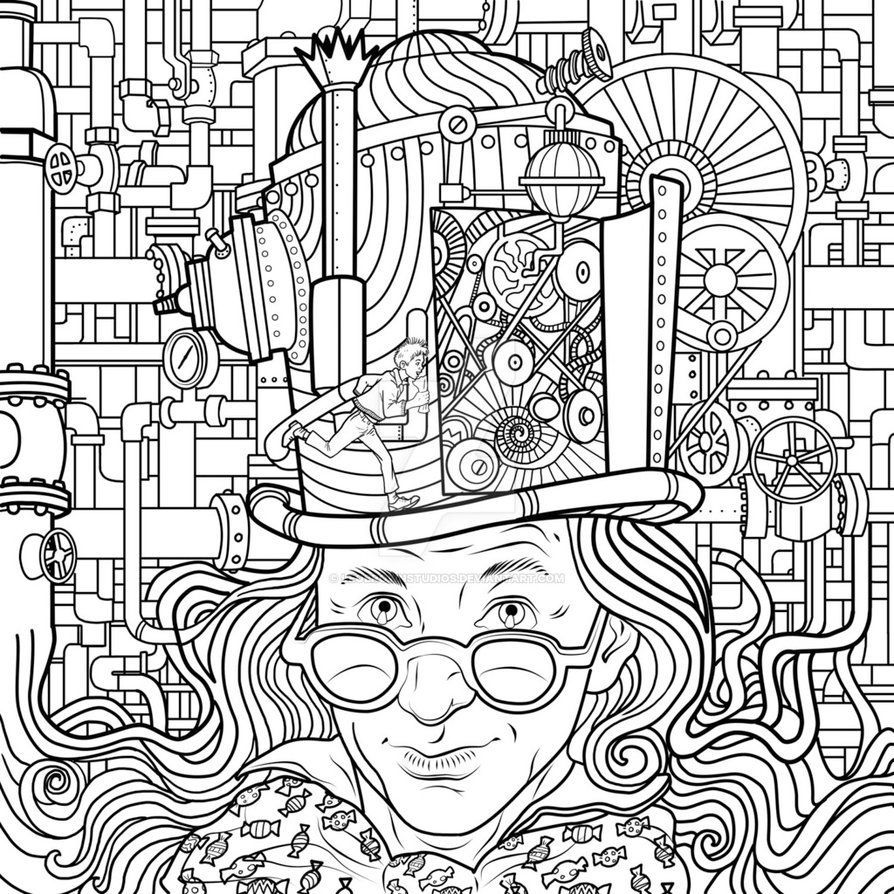 Charlie And The Chocolate Factory Coloring Pages Printable With