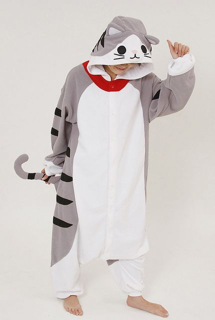 227a1b234583 How cool are these are these animal onesies   )Cat Adult Onesie Pajamas1