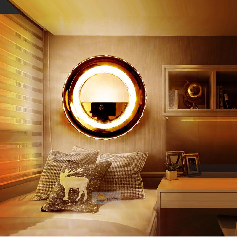 Wall Mounted Lights For Bedroom Brilliant Hallway Led Ring Light Modern Living Room Bedroom Aisle Lamps Indoor Review