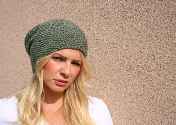Knit Slouchy Beanie Hat   Women s Slouchy Hat   Women s Winter Hat   Slouch  Hat   Slouch Beanie   Fa 41e4ee4e346